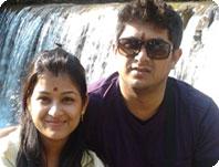 Anju with Rakesh