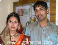 Mahender with Pushpa