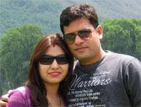 Sushil with Rekha